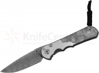 "Нож Chris Reeve Large Sebenza 25 Basketweave CGG Folding Knife 3.625"" Basketweave Damascus Blade"