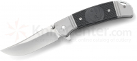 Складной нож Ruger® Knives Hollow-Point™ +P IKBS® Flipper, Ken Onion Design, Satin Finish Blade, Stainless Steel Handle with Black GRN Inlays