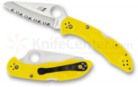 Складной нож Spyderco Yellow Salt 2 Rust Proof Serrated Blade Yellow FRN Lockback Folding Knife