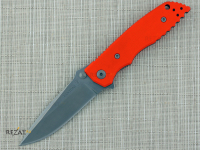 Нож складной HB01 Large, Orange Handle, PVD-Coated Crucible CPM® S35VN™, William (Bill) Harsey Design 10.5 см.