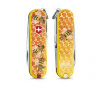 "Складной нож Victorinox Classic limited edition 2017 ""Honey Bee"" (0.6223.L1702) 58мм 7функций"